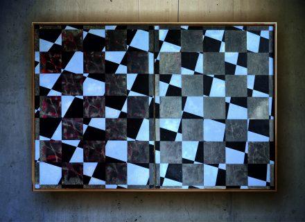 """""""Lichtblick""""1, Mischtecnik auf bütten und Holz, 110 x 160 cm, 2014"""